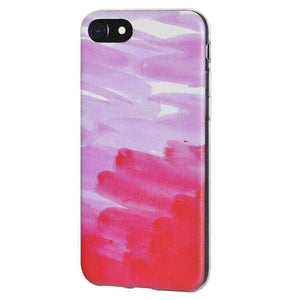 Soft Gel TPU Soft Skin Case Abstract Pink for iPhone 6 - Clear - fommystore