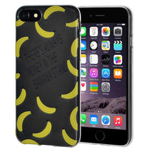 Load image into Gallery viewer, Soft Gel TPU Soft Skin Case Modern Banana Print for iPhone 6 - Clear - fommystore