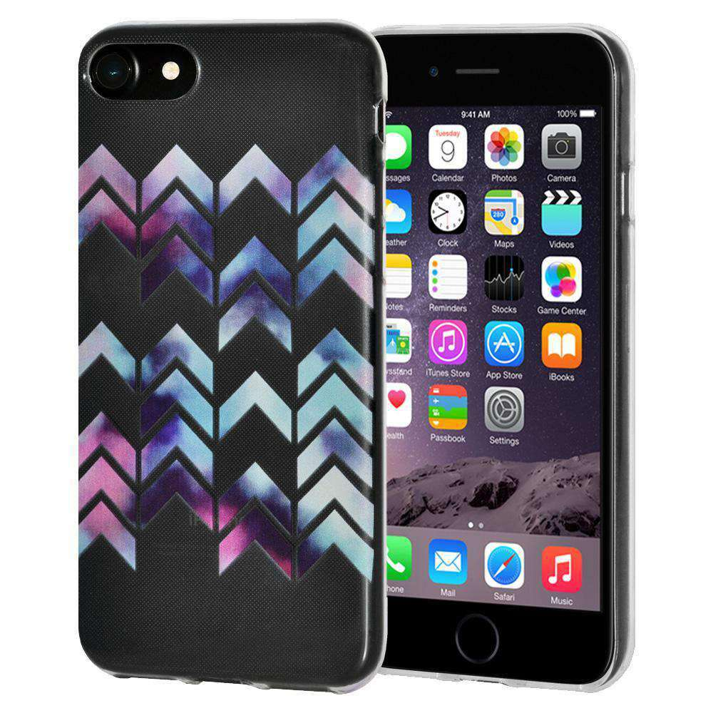 Soft Gel TPU Soft Skin Case Modern Arrow Print for iPhone 6 - Clear - fommystore
