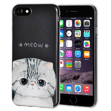 Load image into Gallery viewer, Soft Gel TPU Soft Skin Case Kitten Meow for iPhone 6 Plus - Clear - fommystore