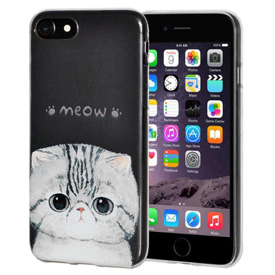Soft Gel TPU Soft Skin Case Kitten Meow for iPhone 6 Plus - Clear - fommystore