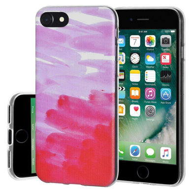 Soft Gel TPU Soft Skin Case Abstract Pink for iPhone 7 - Clear - fommystore