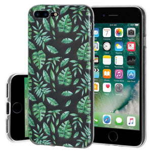 Soft Gel TPU Soft Skin Case Woodland Fern for iPhone 7 Plus - Clear