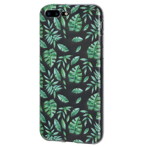 Soft Gel TPU Soft Skin Case Woodland Fern for iPhone 7 Plus - Clear - fommystore