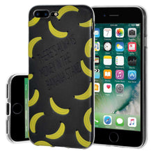 Load image into Gallery viewer, Soft Gel TPU Soft Skin Case Banana Print for iPhone 7 Plus - Clear - fommystore
