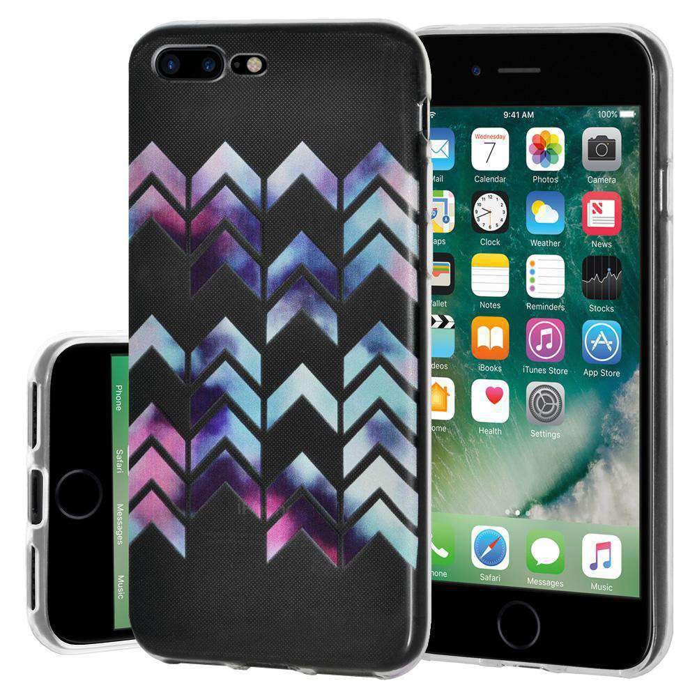 Soft Gel TPU Soft Skin Case Arrow Print for iPhone 7 Plus - Clear - fommystore