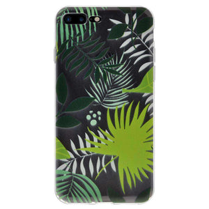 Soft Gel TPU Soft Skin Case Botanical for iPhone 7 Plus - Clear - fommystore