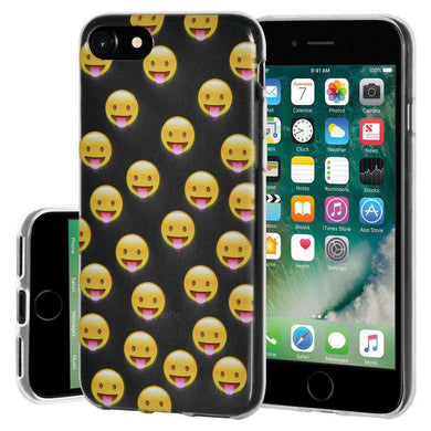 Soft Gel TPU Soft Skin Case for iPhone 7 - Tongue Out - fommystore