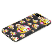 Load image into Gallery viewer, Soft TPU Skin Case for iPhone 7 - Face With Stuck Out Tongue Winking Eye - fommystore