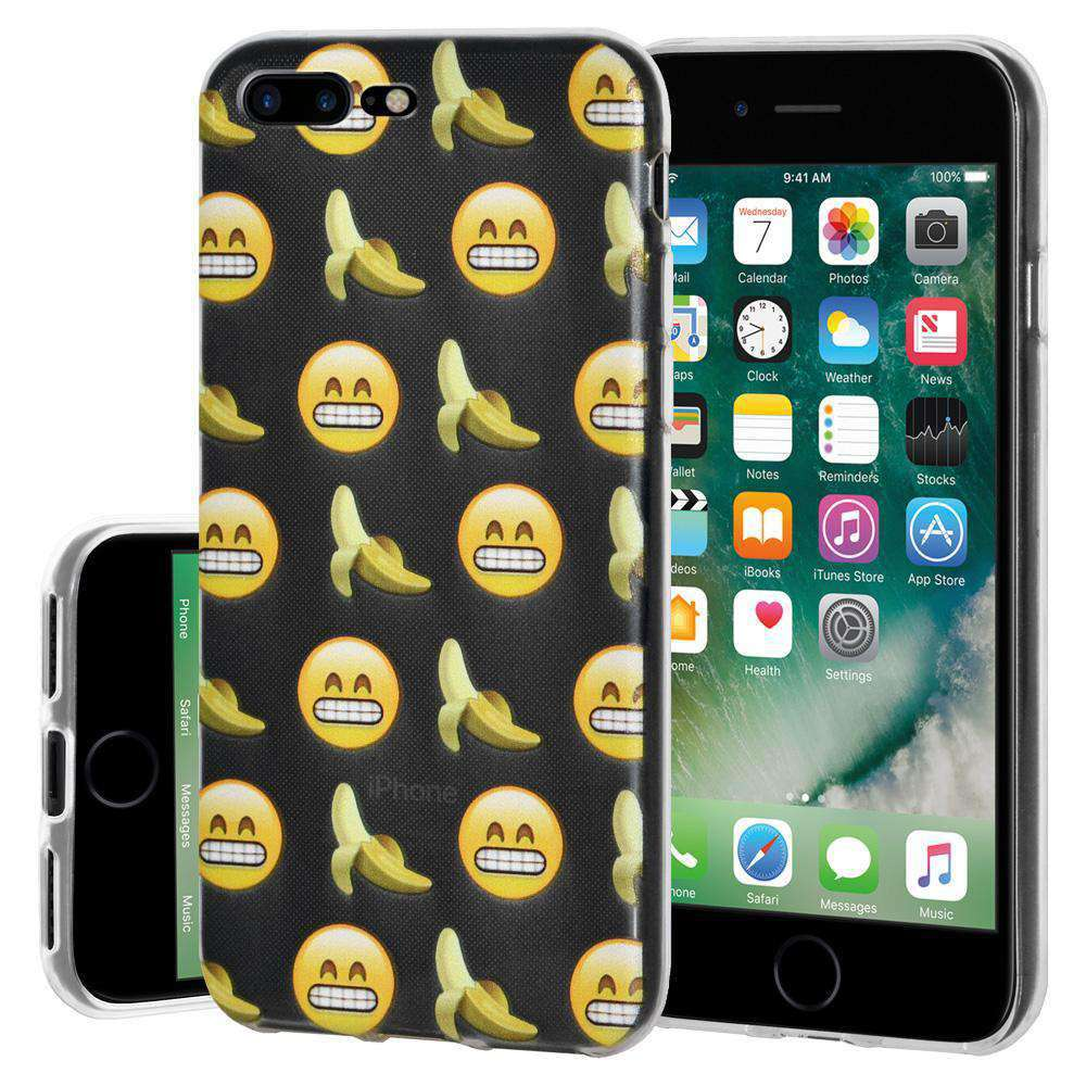 Soft Gel TPU Soft Skin Case Grin With Bananas for iPhone 7 Plus - Clear - fommystore