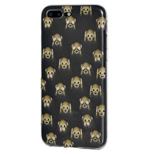 Load image into Gallery viewer, Protective Cover Soft Shockproof TPU Case See Hear Speak No Evil Monkeys for iPhone 7 Plus - Clear - fommystore