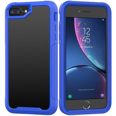 AMZER Shockproof Full Body Hybrid Case for iPhone 7 Plus - Blue - fommystore