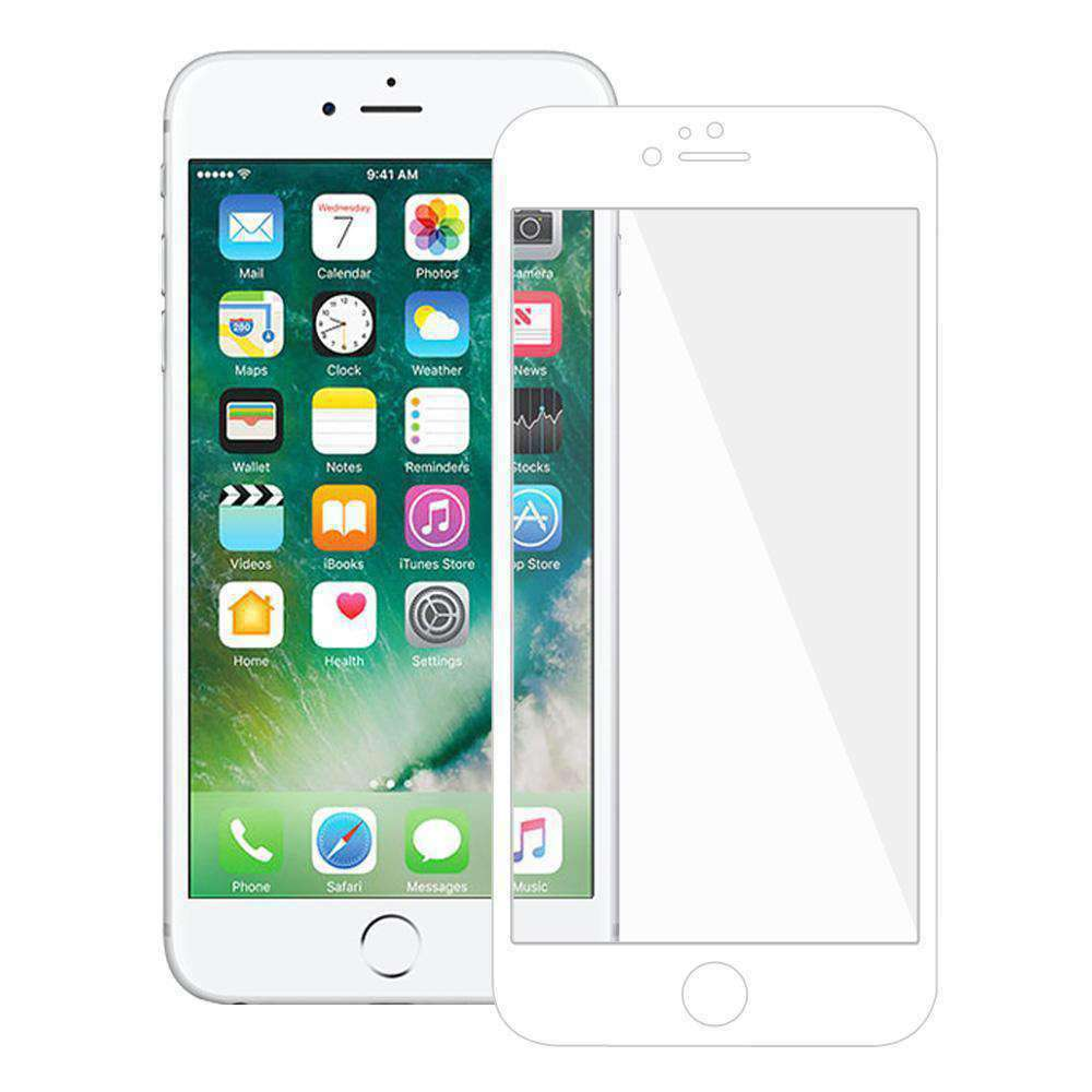 AMZER Kristal Tempered Glass HD Edge2Edge Protector for iPhone 7 Plus - White - fommystore