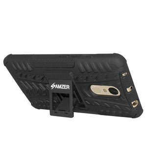 AMZER Hybrid Shockproof Cover Warrior Case for Xiaomi Redmi Note 4 - Black/Black - fommystore
