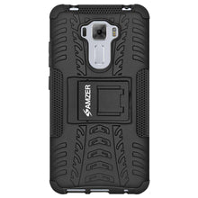 Load image into Gallery viewer, AMZER Hybrid Warrior Kickstand Case for Asus ZenFone 3 Laser ZC551KL - Black/Black - fommystore