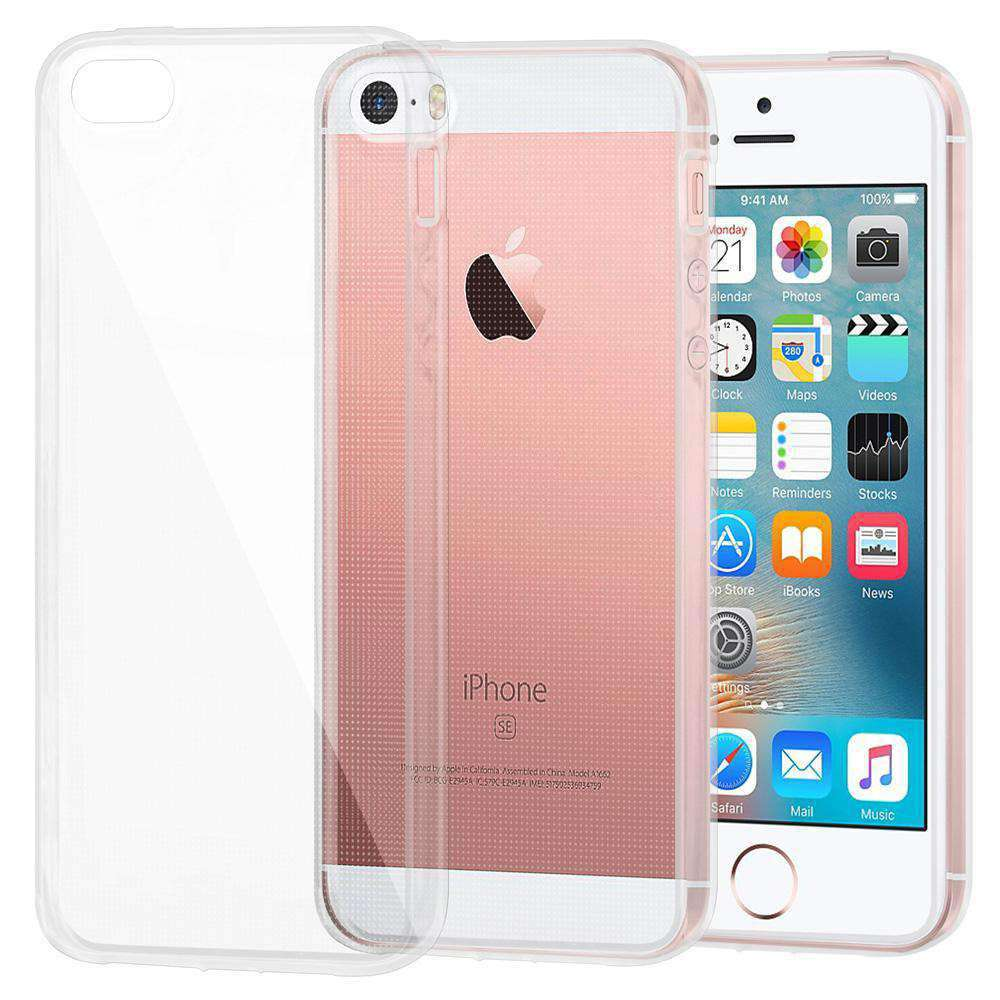Soft Gel TPU Soft Skin Case for iPhone 5 - Clear - fommystore