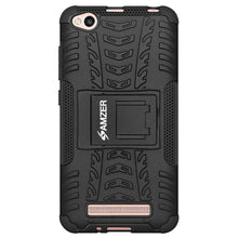 Load image into Gallery viewer, AMZER Shockproof Warrior Hybrid Case for Xiaomi Redmi 4a - Black/Black - fommystore