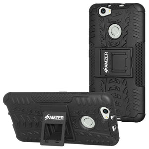 AMZER Shockproof Warrior Hybrid Case for Huawei Nova - Black/Black - fommystore