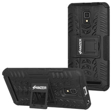 Load image into Gallery viewer, AMZER Shockproof Warrior Hybrid Case for Lenovo A6600 - Black/Black - fommystore