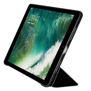 AMZER Shell Portfolio Case Leather Texture for Apple iPad Pro 9.7 - Black - fommystore