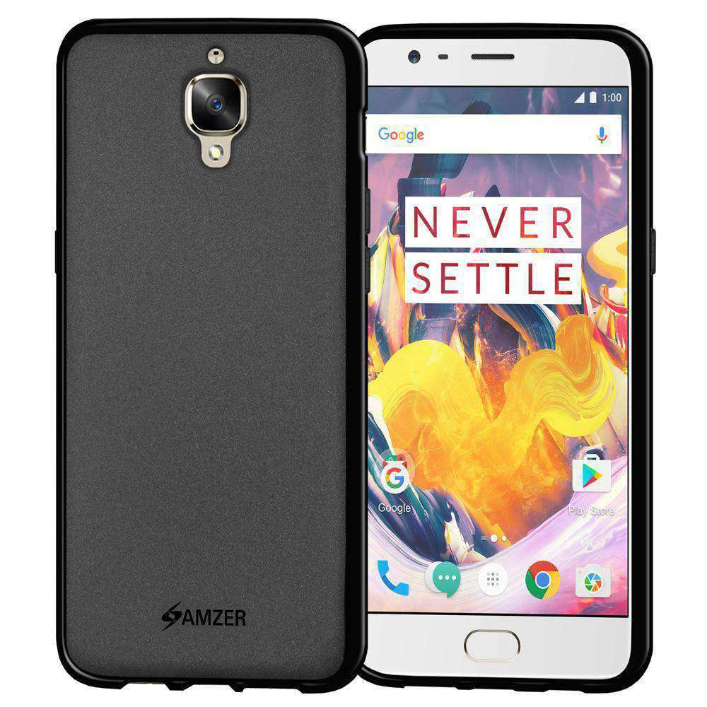 AMZER Pudding Soft TPU Skin Case for OnePlus 3 - Black - fommystore