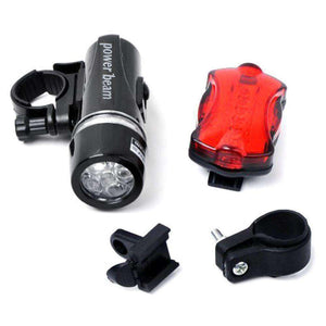 Waterproof 5 LED Lamp Bike Bicycle Front Headlight/ Rear Safety Flashlight - fommystore
