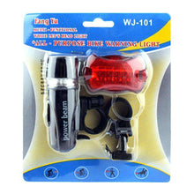 Load image into Gallery viewer, Waterproof 5 LED Lamp Bike Bicycle Front Headlight/ Rear Safety Flashlight - fommystore