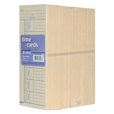 Adams Weekly Employee Time Card 2-Sided - 500 Count - fommystore