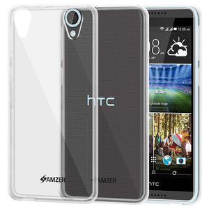 AMZER Pudding Soft TPU Skin Case for HTC Desire 820 - Clear - fommystore