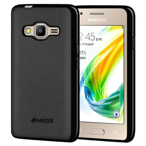 AMZER Pudding Soft TPU Skin Case for Samsung Z2 SM-Z200F - Black - fommystore