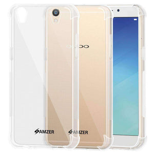 AMZER Pudding TPU Soft Skin X Protection Case for Oppo R9 Plus - Crystal Clear - fommystore