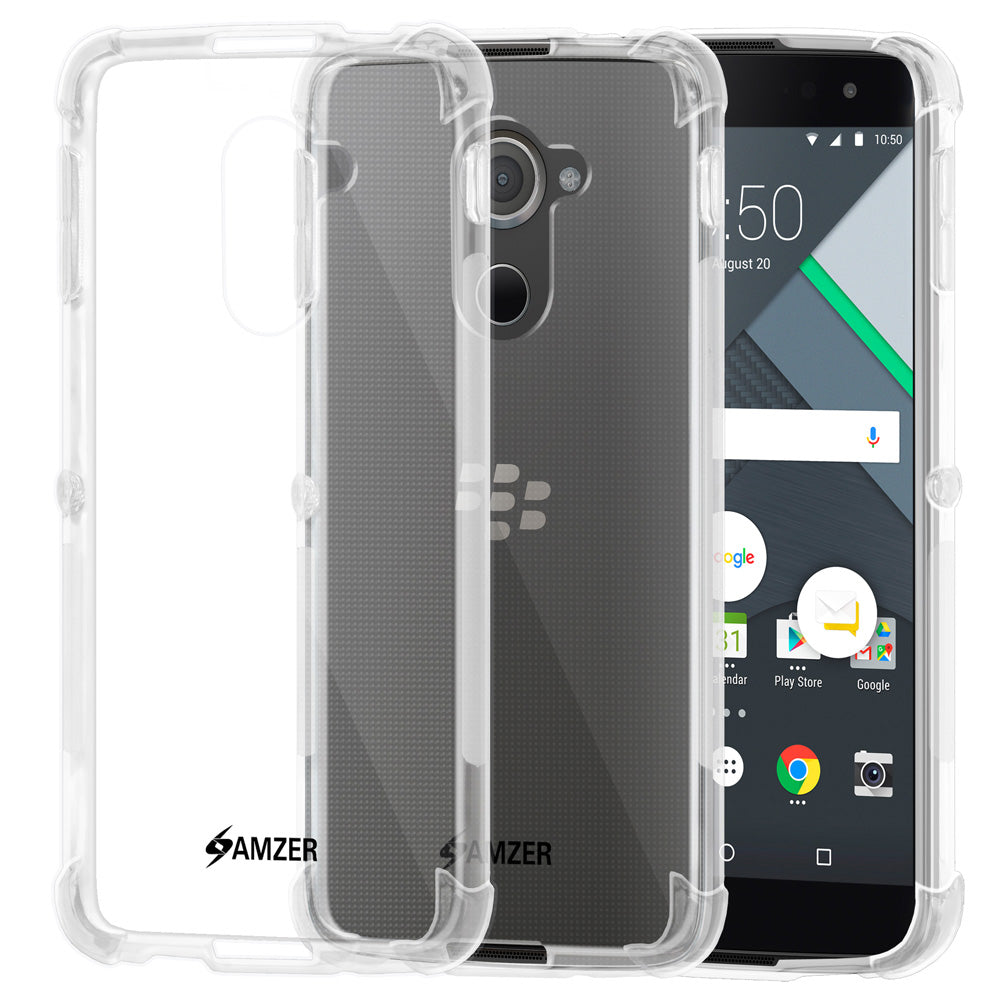 AMZER Pudding TPU Soft Skin X Protection Case for BlackBerry DTEK60 - Clear - fommystore