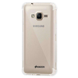 AMZER Pudding TPU Soft Skin X Protection Case for Samsung GALAXY J1 Mini - Clear - fommystore