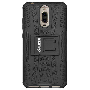 AMZER Shockproof Warrior Hybrid Case for Huawei Mate 9 Pro - Black/Black - fommystore