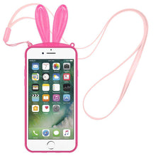Load image into Gallery viewer, AMZER TPU Skin Case With Rabbit Ears for iPhone 7 - Pink - fommystore