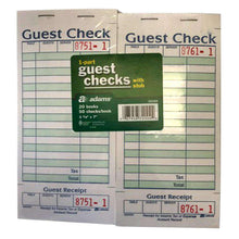Load image into Gallery viewer, Adams 1-Part Guest Check with Stub - 50 Checks/book - 20 pk. - fommystore