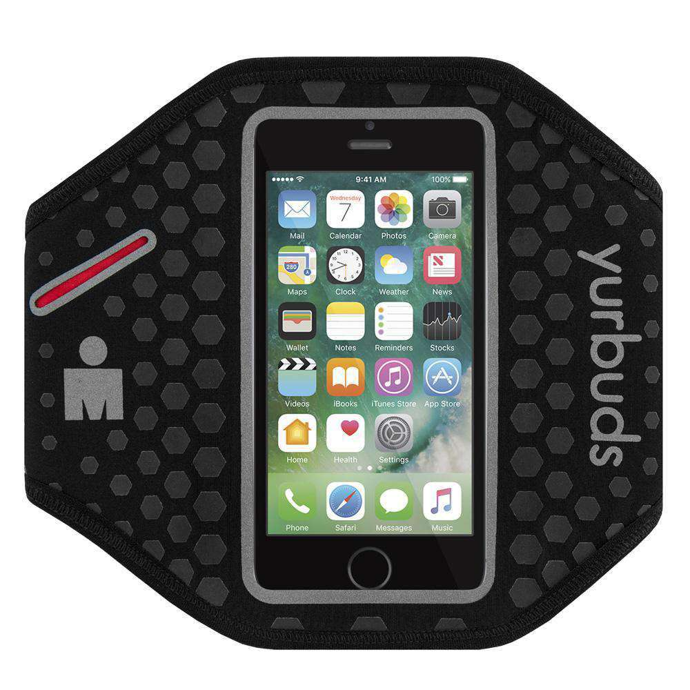 Yurbuds® Ergosport Radiant Reflective Armband for iPhone 5/SE - Black for iPhone 5 - fommystore