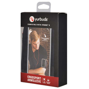 Yurbuds® Ergosport Reflective Sports Running Armsleeve - Black for iPhone 5 - fommystore