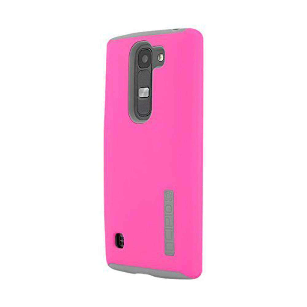 Incipio DualPro Hard-Shell Case with Impact Absorbing Core - Pink/ Grey for LG Escape 2 - fommystore