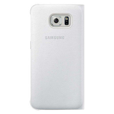 Samsung OEM Wallet Flip Cover for Samsung Galaxy S6 edge SM-G925F - White - fommystore