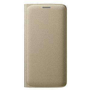 Samsung Wallet Flip Cover for Samsung Galaxy S6 edge SM-G925F - Gold