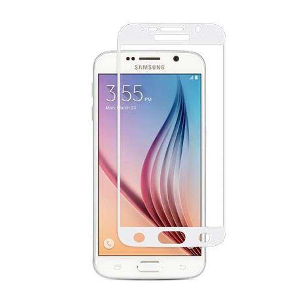 Moshi iVisor Premium Glass Screen Protector - White for Samsung Galaxy S6 SM-G920F - fommystore