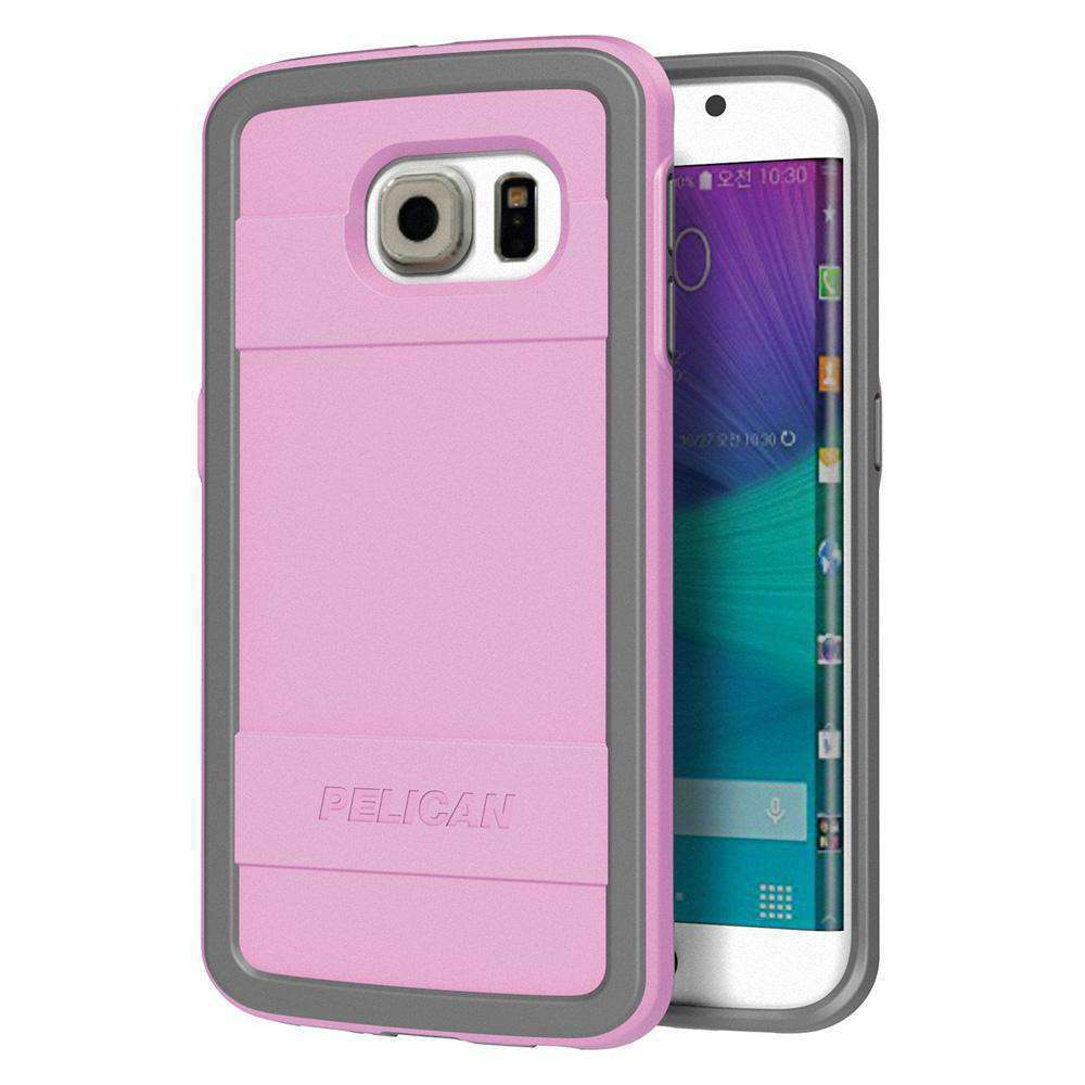 Pelican ProGear Protector Series Case - Pink / Gray for Samsung Galaxy S6 edge SM-G925F - fommystore