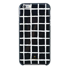 Load image into Gallery viewer, Kate Spade Painterly Hybrid Shell Case - Check Black/Cream for iPhone 6 Plus - fommystore
