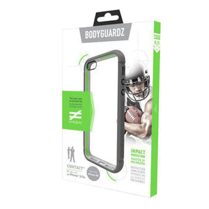 BodyGuardz Contact Case with Unequal Technology - Clear/Grey for iPhone 5 - fommystore