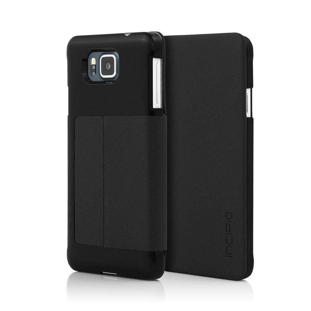 Incipio Highland Ultra Thin Premium Folio Case - Black for Samsung GALAXY Alpha SM-850F - fommystore