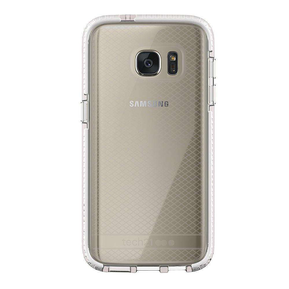 Tech21 Evo Check Case - Clear/ White for Samsung GALAXY S7 SM-G930F - fommystore
