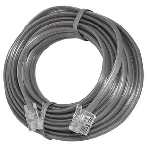 GE High Quality Durable Telephone Accessory Line Cord 2 Ft. - Satin