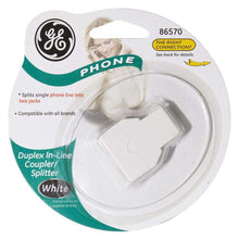 Load image into Gallery viewer, GE Duplex In-Line Adaptor Splits Single Phone Line to Two - White - fommystore