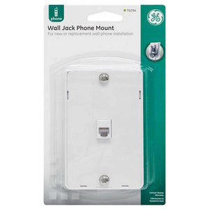 GE Wall Jack Phone Mount - White - fommystore